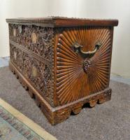 Carved Indian Trunk c.1890 (4 of 8)