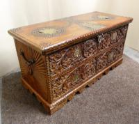 Carved Indian Trunk c.1890 (5 of 8)