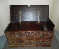 Carved Indian Trunk c.1890 (6 of 8)