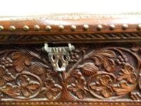 Carved Indian Trunk c.1890 (7 of 8)
