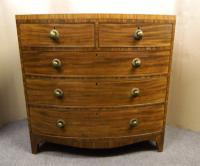 Regency Mahogany Bowfront Chest of Drawers (6 of 7)