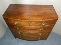 Regency Mahogany Bowfront Chest of Drawers (7 of 7)