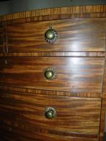 Regency Mahogany Bowfront Chest of Drawers (4 of 7)