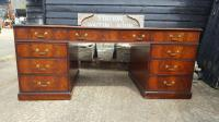 Quality Flame Mahogany Partners Desk (2 of 7)
