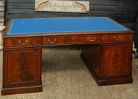 Quality Flame Mahogany Partners Desk (3 of 7)