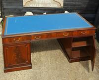 Quality Flame Mahogany Partners Desk (4 of 7)