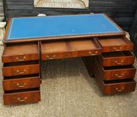 Quality Flame Mahogany Partners Desk (6 of 7)