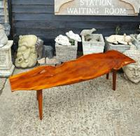 Quality Reynolds of Ludlow Yew Wood Coffee Table (2 of 3)
