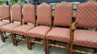 Quality Solid Oak Refectory Dining Table & 6 Chairs (8 of 9)