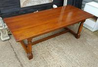 Quality Solid Oak Refectory Dining Table & 6 Chairs (3 of 9)