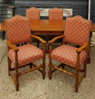 Quality Solid Oak Refectory Dining Table & 6 Chairs (4 of 9)
