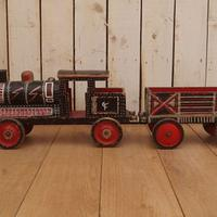 Painted 19th Century Toy Train (3 of 9)