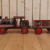 Painted 19th Century Toy Train (4 of 9)
