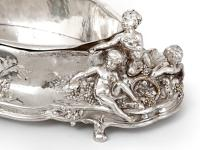 Antique Silver Plated Jardiniere with Scenes of Cherubs Picking Grapes & Cherubs in a Barley Field (6 of 8)
