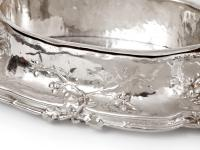 Antique Silver Plated Jardiniere with Scenes of Cherubs Picking Grapes & Cherubs in a Barley Field (2 of 8)