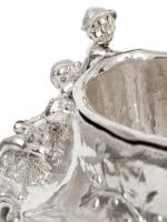 Antique Silver Plated Jardiniere with Scenes of Cherubs Picking Grapes & Cherubs in a Barley Field (5 of 8)