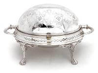 Antique Lee & Wigfull Silver Plated Revolving Breakfast Dish