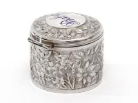 Antique Silver Jar with Baby Inscribed On the Lid with Blue Enamel (6 of 6)