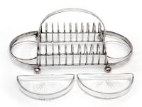 Hukin & Heath Silver Plated Toast or Cracker Rack (3 of 6)