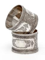 Pair of Boxed Victorian Silver Napkin Rings (2 of 8)