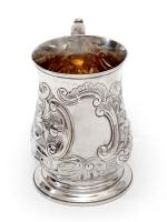 George III Silver Baluster Shape Christening Mug with a Cast Scroll Handle (2 of 4)