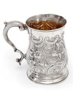 George III Silver Baluster Shape Christening Mug with a Cast Scroll Handle (3 of 4)