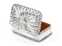 Victorian Silver Jewellery or Trinket Box with a Fluted Domed Hinged Lid (2 of 4)