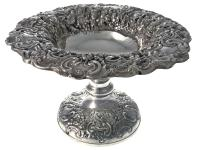 Very Ornate Silver Hand Chased Centre Bowl