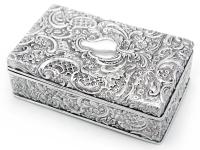 Ornate Antique Silver Plated Trinket Box C.1890