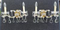 Lovely Pair of Vintage French 1930s Marie Theresa Wall Lights