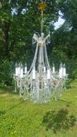 Very Large Unusual Beautiful Vintage French Maria Theresa 12 Light 1950s Chandelier