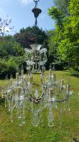 Very Large Vintage French Maria Theresa 12 Light 1950s Chandelier