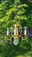 Very Nice Vintage French 4 Arm Cage Chandelier