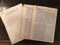 3 Unique Original Unpublished Soldiers Manuscript Private Papers Memoirs