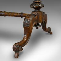 Antique Oval Table, English, Burr Walnut, Centre, Side, Victorian c.1870 (12 of 12)