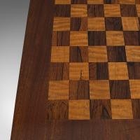 Antique Games Table, English, Mahogany, Chess, Workstation, Victorian c.1860 (10 of 12)