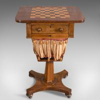 Antique Games Table, English, Mahogany, Chess, Workstation, Victorian c.1860 (2 of 12)
