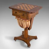Antique Games Table, English, Mahogany, Chess, Workstation, Victorian c.1860 (3 of 12)