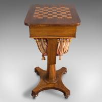 Antique Games Table, English, Mahogany, Chess, Workstation, Victorian c.1860 (4 of 12)