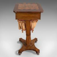 Antique Games Table, English, Mahogany, Chess, Workstation, Victorian c.1860 (5 of 12)