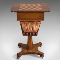 Antique Games Table, English, Mahogany, Chess, Workstation, Victorian c.1860 (6 of 12)