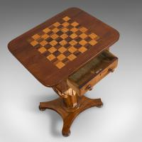 Antique Games Table, English, Mahogany, Chess, Workstation, Victorian c.1860 (7 of 12)
