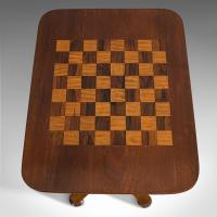 Antique Games Table, English, Mahogany, Chess, Workstation, Victorian c.1860 (9 of 12)