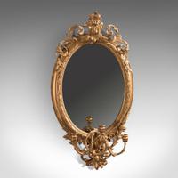 Antique Girandole Gilt Gesso Mirror c.1800