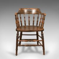 Victorian Antique Bow-Back Chair, English Elm Windsor c.1870 (7 of 8)