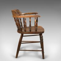 Victorian Antique Bow-Back Chair, English Elm Windsor c.1870 (6 of 8)