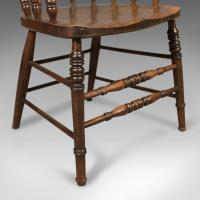 Victorian Antique Bow-Back Chair, English Elm Windsor c.1870 (3 of 8)