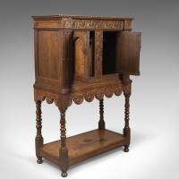 Victorian Antique Livery Cupboard in the 17th Century Taste, English, Oak C.1880 (5 of 7)