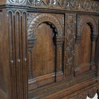 Victorian Antique Livery Cupboard in the 17th Century Taste, English, Oak C.1880 (7 of 7)