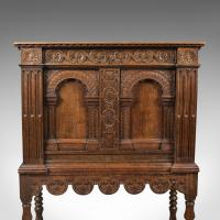 Victorian Antique Livery Cupboard in the 17th Century Taste, English, Oak C.1880 (2 of 7)